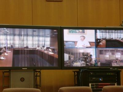 Fレックス テレビ会議の風景