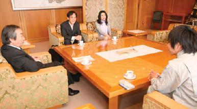 坂井市の坂本市長との座談会